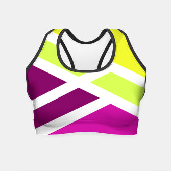 Thumbnail image of Vibrant geometry Crop Top, Live Heroes