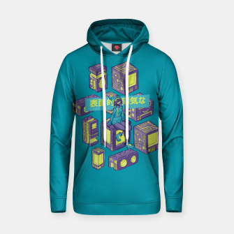 Thumbnail image of superficially cheerful Cotton hoodie, Live Heroes
