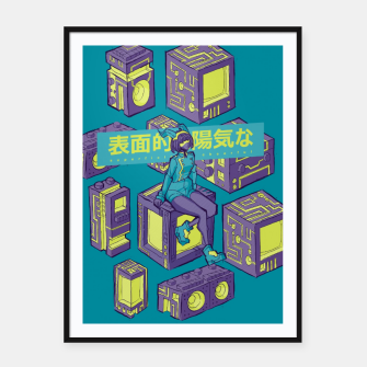 Miniature de image de superficially cheerful Framed poster, Live Heroes