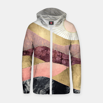 Thumbnail image of Blush Sun Cotton zip up hoodie, Live Heroes