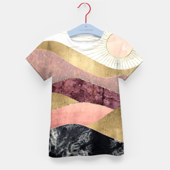 Thumbnail image of Blush Sun Kid's t-shirt, Live Heroes