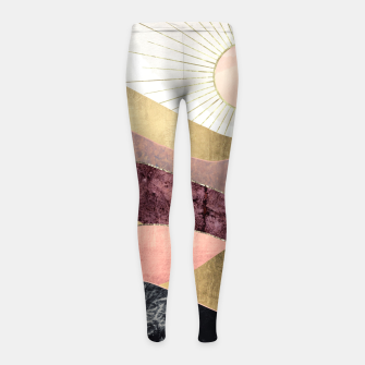 Thumbnail image of Blush Sun Girl's leggings, Live Heroes