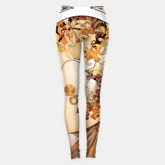 Thumbnail image of Alphonse Mucha Lady With Fruit Leggings, Live Heroes