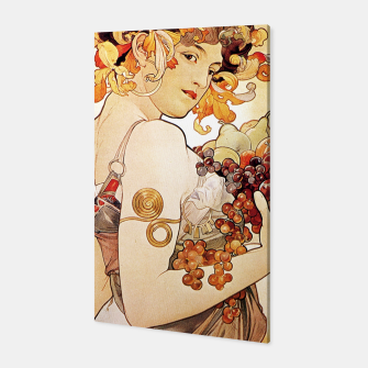 Thumbnail image of Alphonse Mucha Lady With Fruit Canvas, Live Heroes