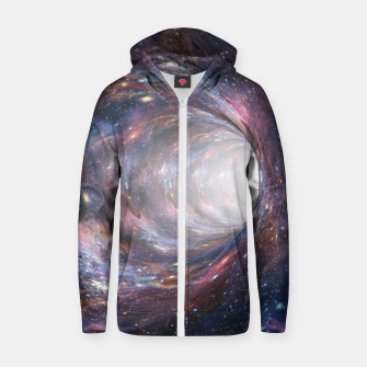 Thumbnail image of The Wormhole - Beautiful Universe Cotton zip up hoodie, Live Heroes