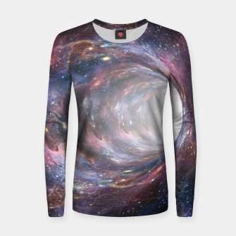 Thumbnail image of The Wormhole - Beautiful Universe Woman cotton sweater, Live Heroes
