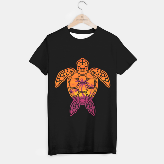 Thumbnail image of Tropical Sunset Sea Turtle Design T-shirt regular, Live Heroes