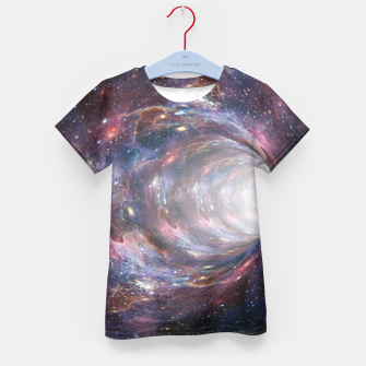 Thumbnail image of The Wormhole - Beautiful Universe Kid's t-shirt, Live Heroes