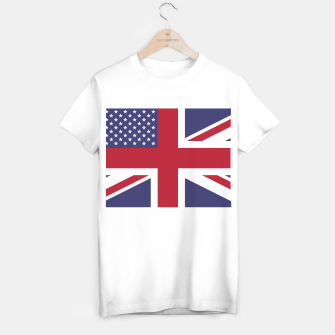 Miniatur United States and The United Kingdom Flags United Forever T-shirt regular, Live Heroes