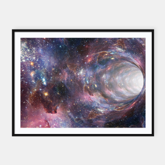 Thumbnail image of The Wormhole - Beautiful Universe Framed poster, Live Heroes