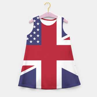 Miniature de image de United States and The United Kingdom Flags United Forever Girl's summer dress, Live Heroes