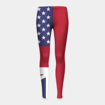 Miniature de image de United States and The United Kingdom Flags United Forever Girl's leggings, Live Heroes