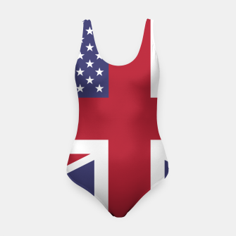 Miniature de image de United States and The United Kingdom Flags United Forever Swimsuit, Live Heroes