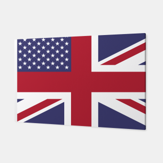 Miniature de image de United States and The United Kingdom Flags United Forever Canvas, Live Heroes