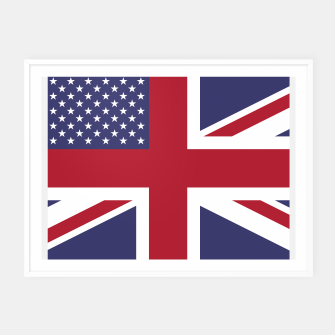 Miniature de image de United States and The United Kingdom Flags United Forever Framed poster, Live Heroes