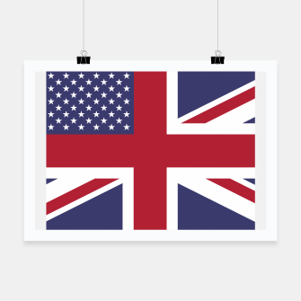 Miniature de image de United States and The United Kingdom Flags United Forever Poster, Live Heroes