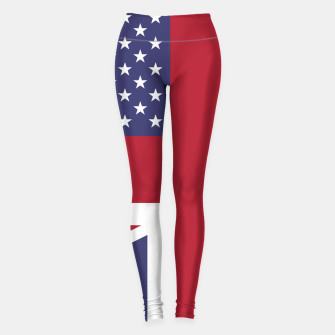 Miniature de image de United States and The United Kingdom Flags United Forever Leggings, Live Heroes
