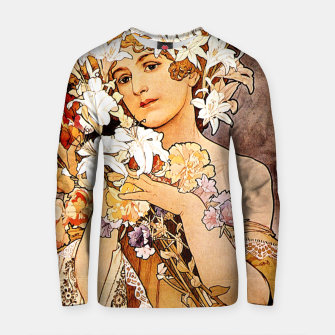 Thumbnail image of Alphonse Mucha Flower Cotton sweater, Live Heroes