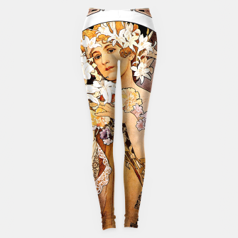 Thumbnail image of Alphonse Mucha Flower Leggings, Live Heroes