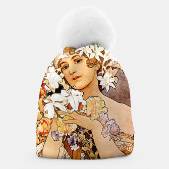 Thumbnail image of Alphonse Mucha Flower Beanie, Live Heroes