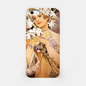 Thumbnail image of Alphonse Mucha Flower iPhone Case, Live Heroes
