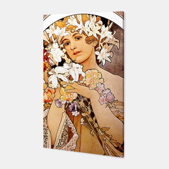 Thumbnail image of Alphonse Mucha Flower Canvas, Live Heroes