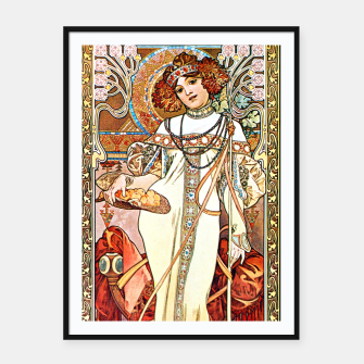 Thumbnail image of Alphonse-Mucha - L'Automne Framed poster, Live Heroes