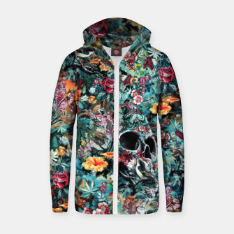 Thumbnail image of Skull Forest Cotton zip up hoodie, Live Heroes