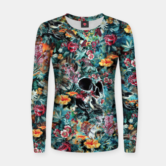 Thumbnail image of Skull Forest Woman cotton sweater, Live Heroes