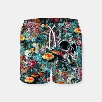 Thumbnail image of Skull Forest Swim Shorts, Live Heroes