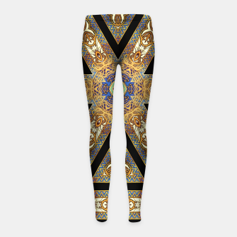 Thumbnail image of AM55-131907 Girl's leggings, Live Heroes