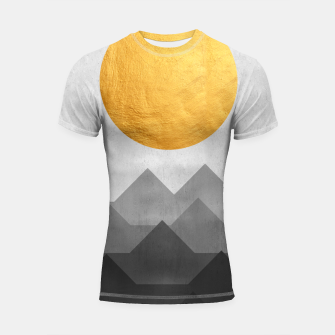 Thumbnail image of Golden Sunset Shortsleeve rashguard, Live Heroes