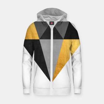 Thumbnail image of Diamond with gold Cotton zip up hoodie, Live Heroes
