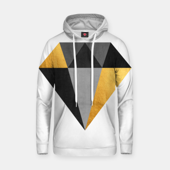 Miniatur Diamond with gold Cotton hoodie, Live Heroes