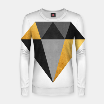 Thumbnail image of Diamond with gold Woman cotton sweater, Live Heroes