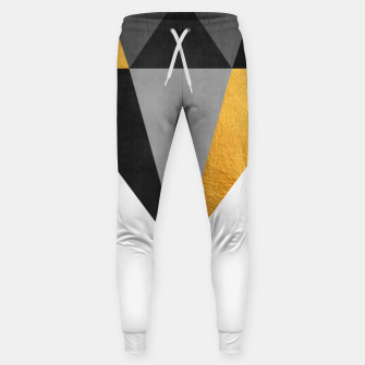 Thumbnail image of Diamond with gold Cotton sweatpants, Live Heroes