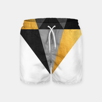 Thumbnail image of Diamond with gold Swim Shorts, Live Heroes
