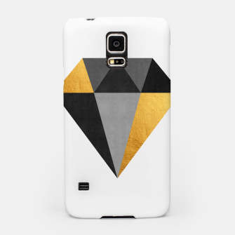 Miniaturka Diamond with gold Samsung Case, Live Heroes