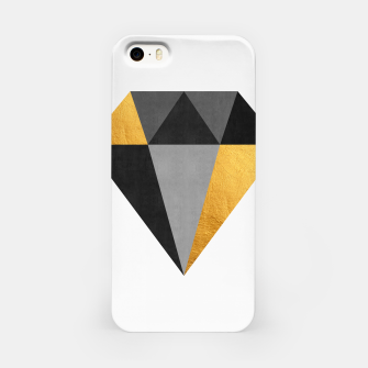Miniatur Diamond with gold iPhone Case, Live Heroes