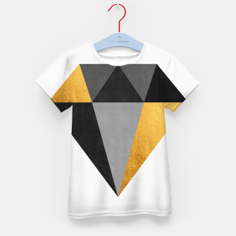 Thumbnail image of Diamond with gold Kid's t-shirt, Live Heroes