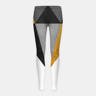 Thumbnail image of Diamond with gold Girl's leggings, Live Heroes