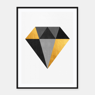Thumbnail image of Diamond with gold Framed poster, Live Heroes