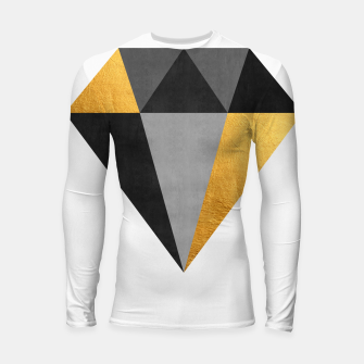 Thumbnail image of Diamond with gold Longsleeve rashguard , Live Heroes