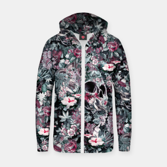 Thumbnail image of Skull Forest II Cotton zip up hoodie, Live Heroes