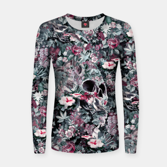 Thumbnail image of Skull Forest II Woman cotton sweater, Live Heroes