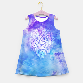 Miniatur Galaxy geometric lion Girl's summer dress, Live Heroes