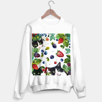 Thumbnail image of Cats and berries Sweater regular, Live Heroes