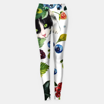 Miniatur Cats and berries Leggings, Live Heroes