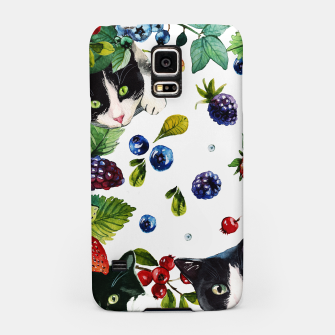Miniatur Cats and berries Samsung Case, Live Heroes