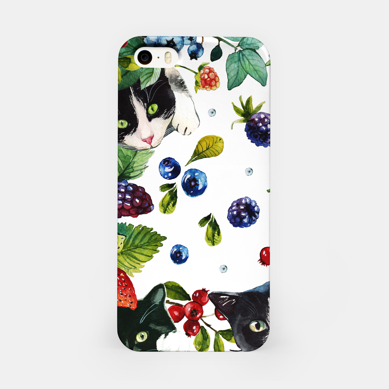 Foto Cats and berries iPhone Case - Live Heroes